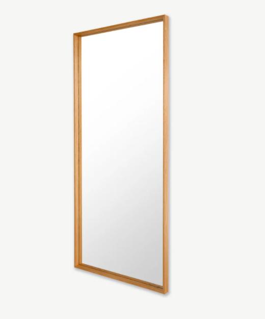 Espejo de pie extragrande de madera maciza 80 x 180cm Wilson, roble