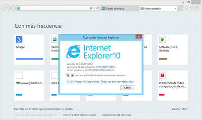 Primer indicio del lanzamiento final de Internet Explorer 10 para Windows 7
