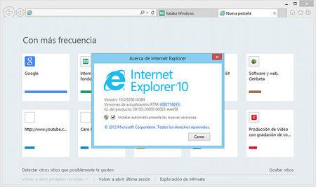 Primer indicio del lanzamiento final de Internet Explorer 10 para Windows 7