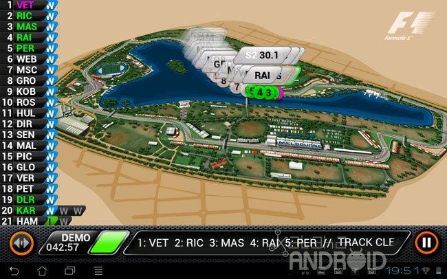 F1 aplicación oficial live timing de Soft Pauer