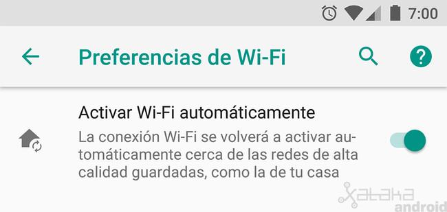 Activar Wifi automáticamente, Android™ Oreo