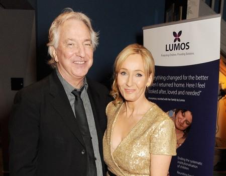 Alan Rickman con JK Rowling