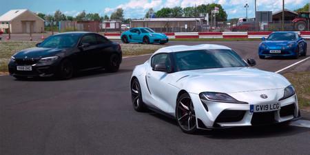 El Toyota GR Supra se enfrenta a los M2 Competition, 718 Cayman T y Alpine A110 en este vídeo. ¿Quién ganará?