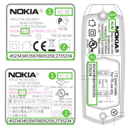 Nokia llama a la revisión de una serie de cargadores