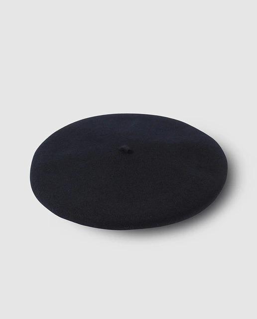 Boina de hombre lana impermeable en color negro