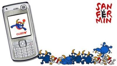 Cuatro emitirá los Sanfermines por el móvil