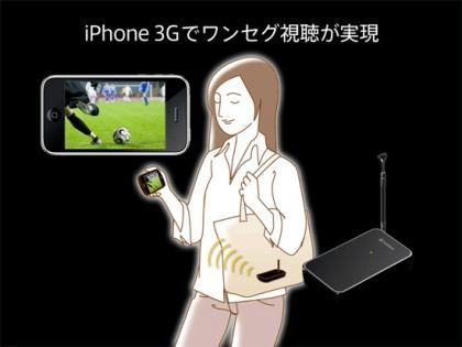 Retransmisor de TV japonés para el iPhone