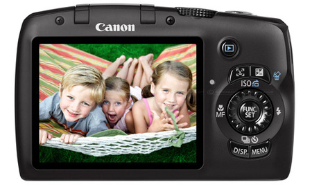 Canon Powershot SX120 IS back