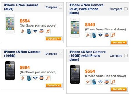 Apple comercializa versiones especiales del iPhone 4 y el iPhone 4S sin cámara para Singapur