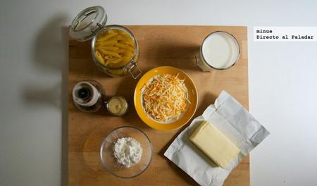 Macarrones con queso al estilo americano - ingredientes