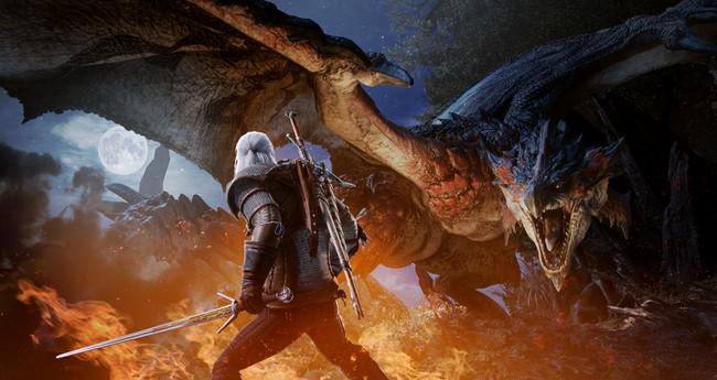 Así luce Geralt de Rivia en Monster Hunter World