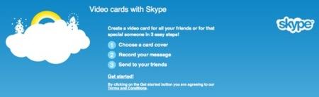 Skype VideoCards, felicitaciones por vídeo