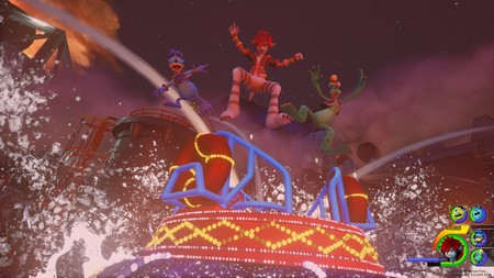 Freddy, Goofy y Sora en