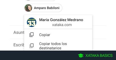 Cómo copiar y pegar direcciones de correo fácilmente con Gmail para móvil