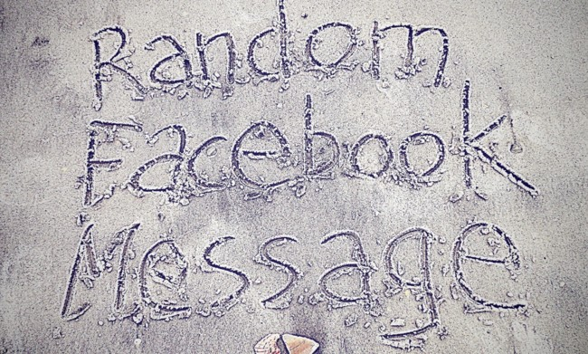 Random Facebook Message