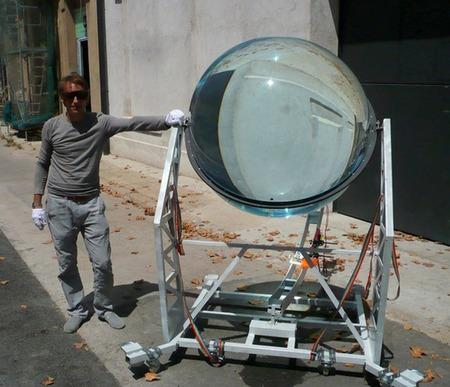 Esfera solar tamaño natural