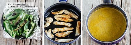 Fajitas Pollo Salsa Pimiento Receta