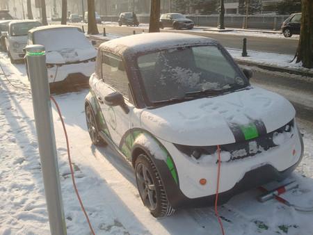 Coche eléctrico nieve