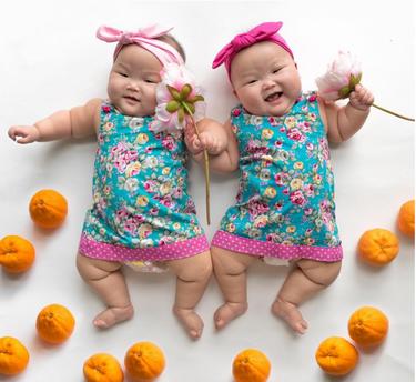 Las adorables gemelas MoMo que causan sensación en Instagram