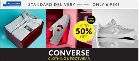 Ropa y calzado deportivo Converse con hasta un 50% de descuento en SportsDirect