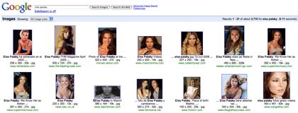 Google Image Search con tecnología de detección de caras