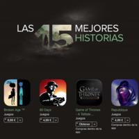 Las 15 mejores historias, la App Store recopila 15 de sus mejores juegos para iOS