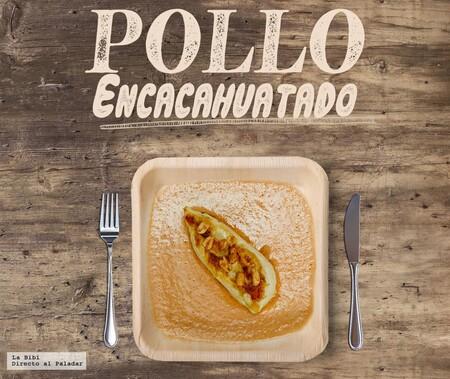 Pollo encacahuatado. Receta mexicana en Infografía