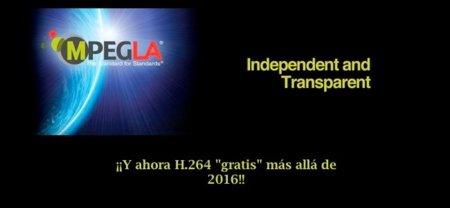 MPEG LA tampoco cobrará por determinados usos de H.264 más allá de 2016