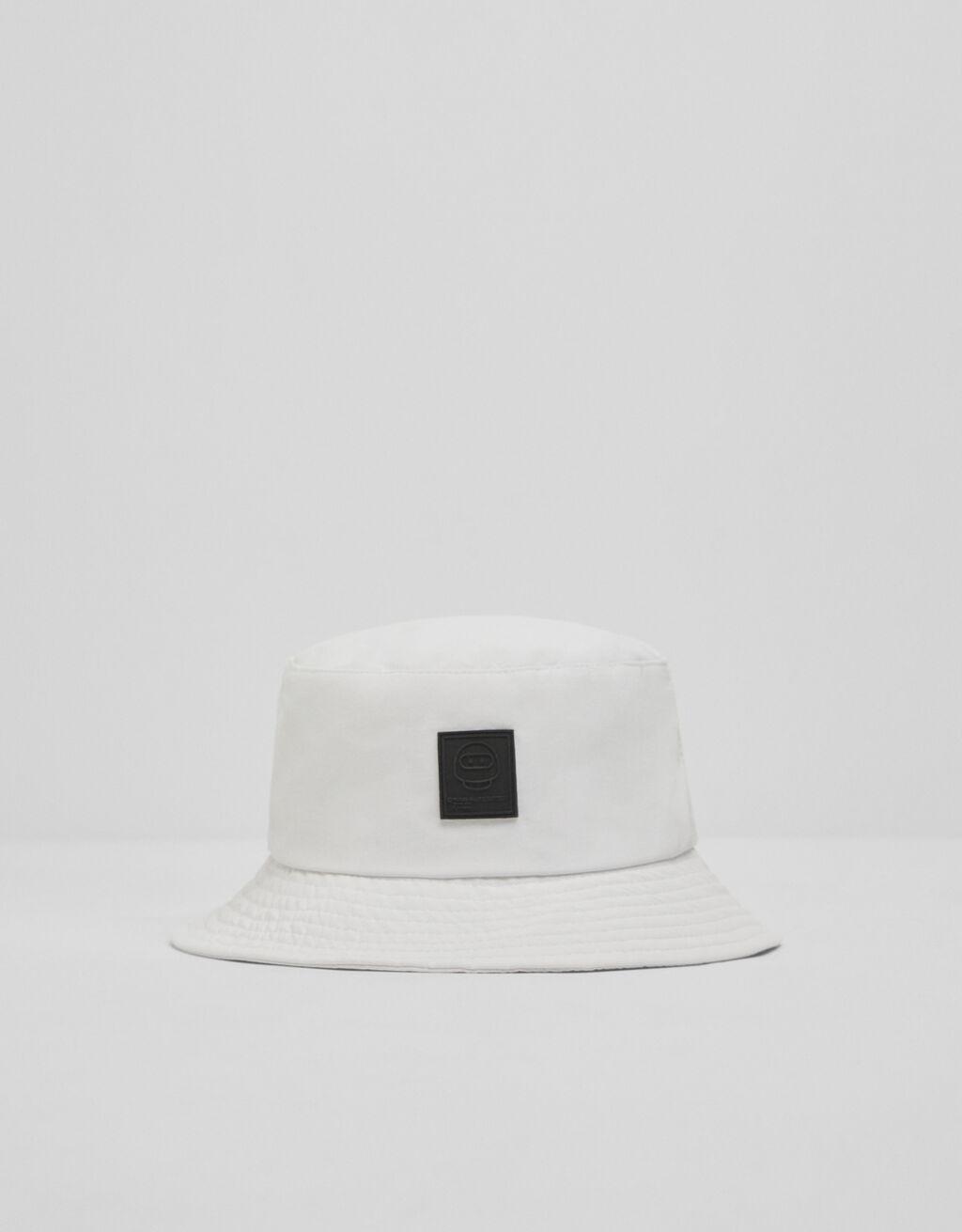 Sombrero bucket básico blanco