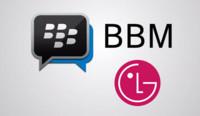 LG preinstalará Blackberry Messenger en sus smartphones Android