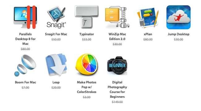 Programas incluídos en Summer 2013 Mac Bundle