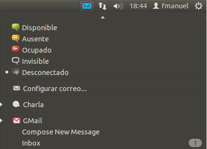 Ubuntu WebApps integración Menu Mensajes