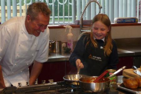 Martha en la escuela de cocina