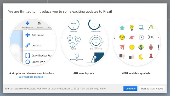 Prezi sobrepasa los quince millones de usuarios y renueva su interfaz por completo