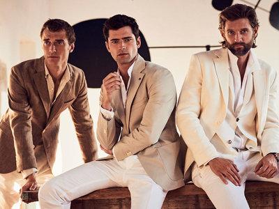 Clement Chabernaud, RJ Rogenski y Sean O'Pry: los tops al frente de la elegancia de verano de Massimo Dutti