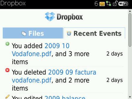 DropBox más cerca de BlackBerry