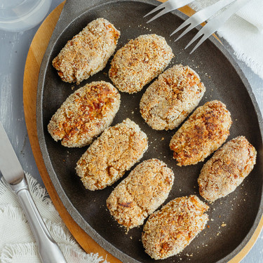 Croquetas de pescado al coco. Receta fácil
