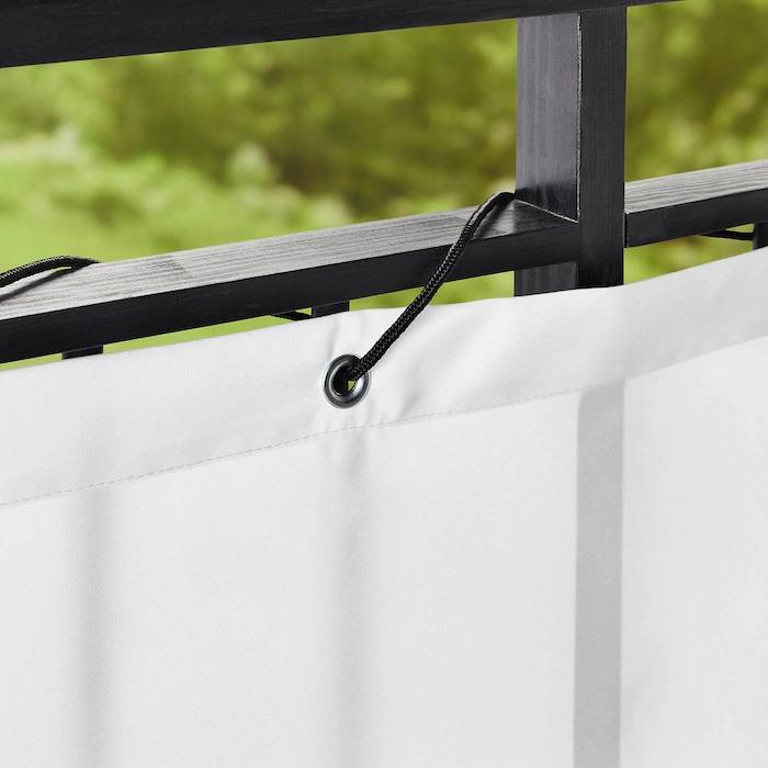 DYNING Pantalla privacidad para balcón, blanco250x80 cm