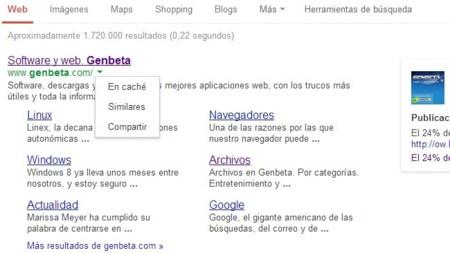 Google quita la previsualización de resultados de búsqueda y añade un nuevo menú