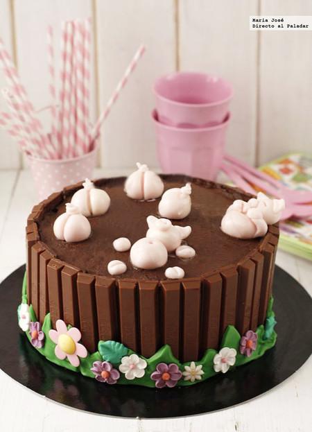 tarta de chocolate infantil