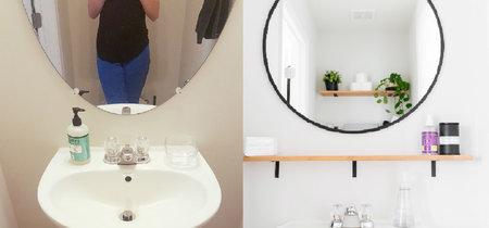 De soso y anticuado a un baño de invitados luminoso y alegre, con poco más que una capa de pintura y nuevos complementos