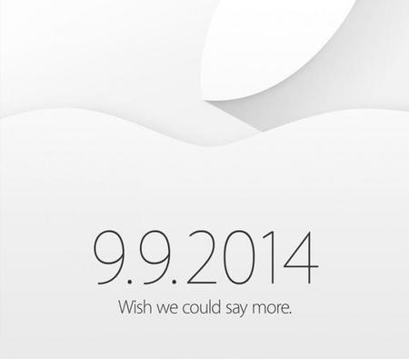 Es oficial: tendremos evento de Apple el 9 de septiembre, el iPhone 6 en camino