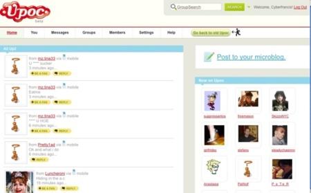 Upoc, otro servicio de microblogging con soporte de grupos