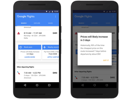 Google Flights quiere que vueles más barato