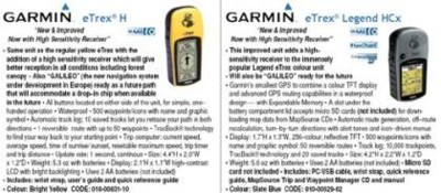 eTrex, GPS de Garmin para Galileo
