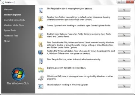 Resuelve problemas comunes de Windows 7 y Vista con un solo click gracias a FixWin