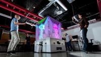 Microsoft Cube combina Kinect y proyectores en una estructura artística de tintes futuristas