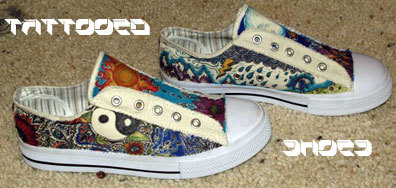 Tattooed shoes, hechas a mano