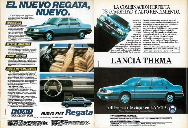 Publicidad de Fiat Regata y Lancia Thema (1987)