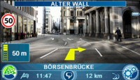 Blaupunkt TravelPilot 700, GPS con indicaciones sobre vídeo